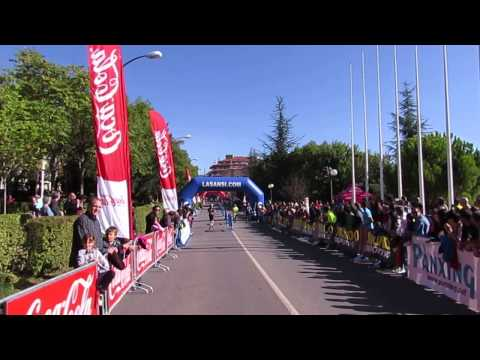 Llegada 1er masculino 10km carrera Ciutat de Berga