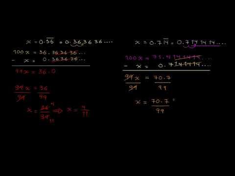 الصف السابع الرياضيات الأعداد والعمليات تحويل الكسور العشرية الدورية إلى كسور 1