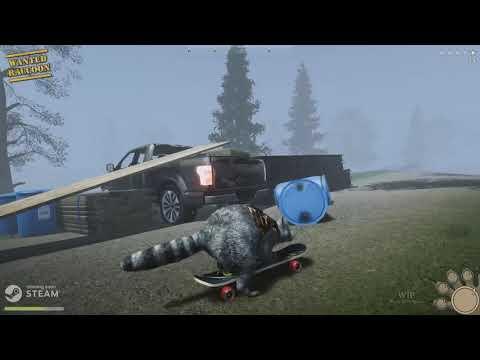 《Wanted Raccoon》第三人稱浣熊模擬器 玩家可以當一隻充滿壞心眼的小浣熊,偷食物、搞破壞、製造武器、搭建防禦基地、與侵佔家園的人類打架,然後拯救被抓走的家人們。