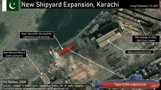 Pakistan's New Type-039B AIP Submarines (Image Shows Shipyard Expansion)