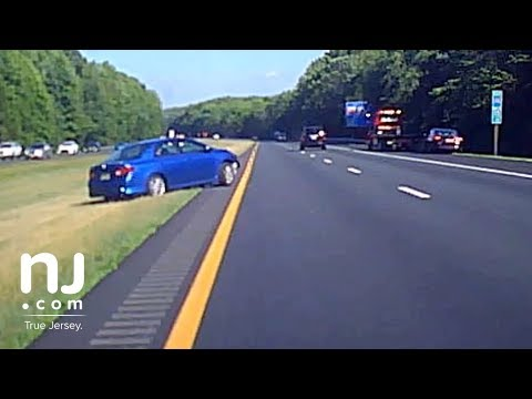 Dashcam Captures Out Of Control Driver On New Jersey Highway