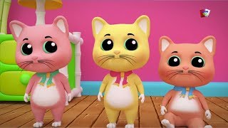 Tiga anak kucing kecil | lagu anak-anak | sajak di Indonesia | Kitten Song | Three Little Kitten