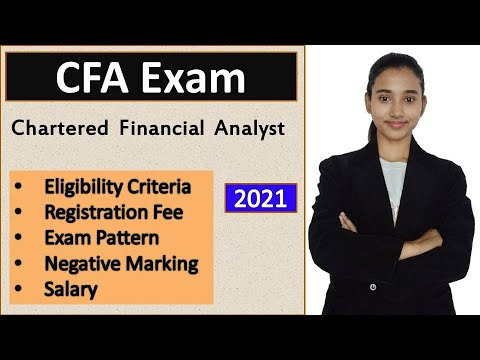 CFA Exam details, Chartered Financial Analyst India | CFA Course ...