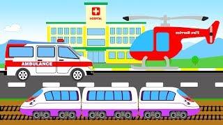 В этом мультфильме произошла новая история. На железной дороге произошла авария. Полиция была первой на месте происшествия. Пожарные тушат пожар. Скорая помощь доставляет в больницу. Мультфильм для детей про машины очень интересный.