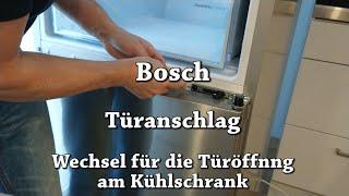 Türanschlag austauschen / wechseln am Kühlschrank - Bosch   Haushaltsgerät