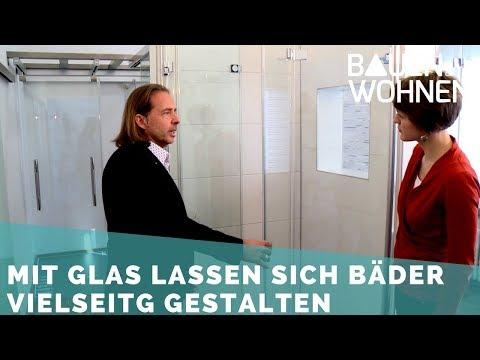 Glas im Badezimmer – Glaswand statt Fliesen