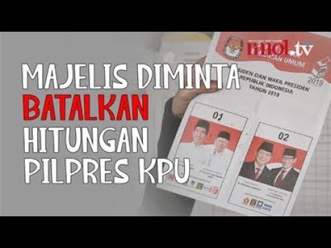 Majelis Diminta Batalkan Hitungan Pilpres KPU