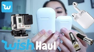 TRYING OUT WISH TECH ! HAUL - UNBOXING AND REVIEW