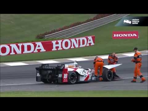 All IndyCar Crashes from the 2017 Honda Indy Grand Prix of Alabama