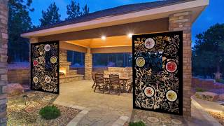 Glass & Metal Garden Art Products - Patio Screens And Fence Panels, Screens For Gazebos, Pergolas