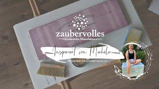 zaubervolles inspiriert von: michèle ★ streifen technik ★ shabby chic ★ kreidefarbe möbel ★ DIY