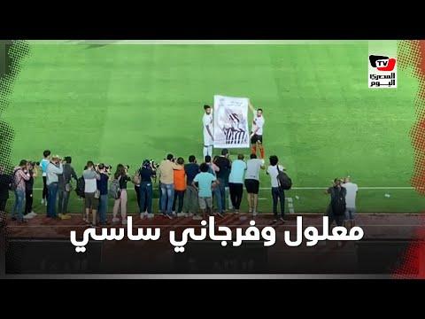 معلول وفرجاني ساسي يرفعان صورة لـ «حمادة العقربي» أسطورة الكرة التونسية