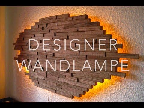 Wandlampe aus Holz - Modernes Kunstwerk und Lichtquelle zugleich