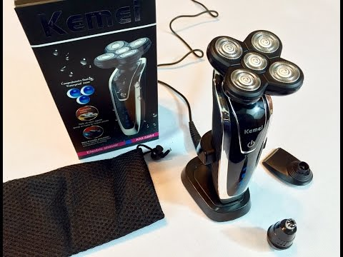 5 Head Washable Rechargeable Electric Razor Shaver KM-5884 by KEMEI review