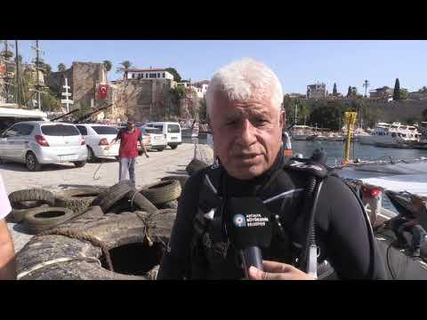 Büyükşehir Yat Limanı'nda dip temizliği yaptı