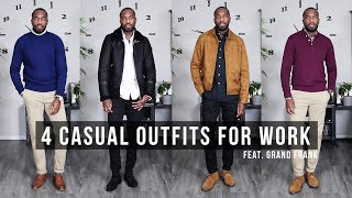 4 CASUAL OUTFITS FOR THE OFFICE Ft. Grand Frank | Mens Fashion & Outfit Inspiration | I AM RIO P.