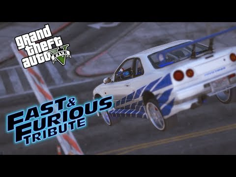 Fast And Furious Tributo - GTA V Video Cinematico