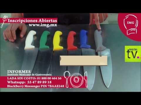 Tipos de tablas y cuchillos en cocina