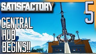 SETTING UP THE SPACE ELEVATOR! | Satisfactory Gameplay/Let's Play E5