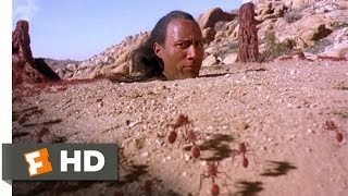 "The Scorpion King movie clips: http://j.mp/1uw6ZU6 BUY THE MOVIE: http://amzn.to/sxc4tf Don't miss the HOTTEST NEW TRAILERS: http://bit.ly/1u2y6pr  CLIP DESCRIPTION: Arpid (Grant Heslov) helps Mathayus (Dwayne Johnson) escape from the fire ant's pit.  FILM DESCRIPTION: The Rock has his first starring role in this prequel to The Mummy films, which was developed while The Mummy Returns was still in production. The film takes place in ancient times, when a mighty swordsman, Memnon (Steven Brand, making his film debut) ruled over nearly all the known world. Memnon, a brutal tyrant, defeats his enemies in battle with the help of a beautiful sorceress, Cassandra (Kelly Hu), who can predict the future. The last of the ""free tribes"" form a fragile alliance to fight Memnon, and hire a trio of Akkadian assassins, led by Mathayus (pro wrestler The Rock, who made his big-screen debut as this character in The Mummy Returns), to kill the sorceress and thus remove Memnon's advantage. Balthazar (Michael Clarke Duncan of The Green Mile), the powerful leader of the Nubians, objects to hiring mercenaries, but the plan goes forward. The assassins are betrayed by Takmet (Peter Facinelli), the son of one of the tribal leaders, and Mathayus finds himself unable to kill Cassandra. Thanks to the unlikely machinations of Cassandra, and the aid of a horse thief, Arpid (Grant Heslov of True Lies), Mathayus escapes to the desert. He eventually abducts Cassandra, who explains that Memnon was holding her against her will. Mathayus thwarts Memnon's efforts to re-capture Cassandra, then uses his newfound sense of justice to convince the surviving tribal leaders to join forces again to defeat Memnon. The Scorpion King was directed by Chuck Russell. Jonathan Hales (Star Wars: Episode II - Attack of the Clones) was credited with the story, and WWF owner Vince McMahon has an executive producer credit. The film, which was shot in the U.S. (very unusual for a big action film), reportedly underwent extensive re-shoots when the first cut came in with a running time of 70 minutes.  CREDITS: TM & © Universal (2002) Cast: Nick Hermz, Grant Heslov, Michael Hilow, Dwayne Johnson Director: Chuck Russell Producers: Josh McLaglen, Vince McMahon, Kevin Misher, Richard Luke Rothschild, Stephen Sommers, Michael Tronick, Sean Daniel, James Jacks Screenwriters: Jonathan Hales, David Hayter, Stephen Sommers, William Osborne  WHO ARE WE? The MOVIECLIPS channel is the largest collection of licensed movie clips on the web. Here you will find unforgettable moments, scenes and lines from all your favorite films. Made by movie fans, for movie fans.  SUBSCRIBE TO OUR MOVIE CHANNELS: MOVIECLIPS: http://bit.ly/1u2yaWd ComingSoon: http://bit.ly/1DVpgtR Indie & Film Festivals: http://bit.ly/1wbkfYg Hero Central: http://bit.ly/1AMUZwv Extras: http://bit.ly/1u431fr Classic Trailers: http://bit.ly/1u43jDe Pop-Up Trailers: http://bit.ly/1z7EtZR Movie News: http://bit.ly/1C3Ncd2 Movie Games: http://bit.ly/1ygDV13 Fandango: http://bit.ly/1Bl79ye Fandango FrontRunners: http://bit.ly/1CggQfC  HIT US UP: Facebook: http://on.fb.me/1y8M8ax Twitter: http://bit.ly/1ghOWmt Pinterest: http://bit.ly/14wL9De Tumblr: http://bit.ly/1vUwhH7"