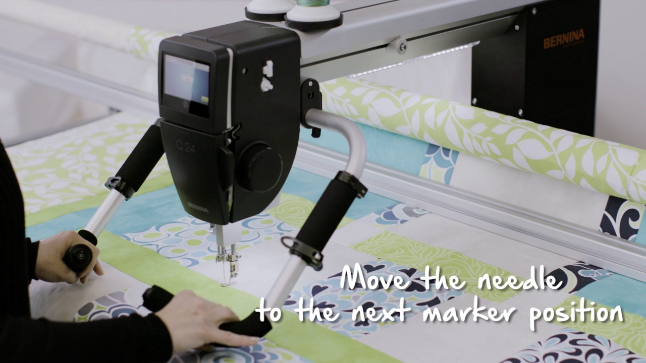 BERNINA Q-matic Video Tutorial: Markers