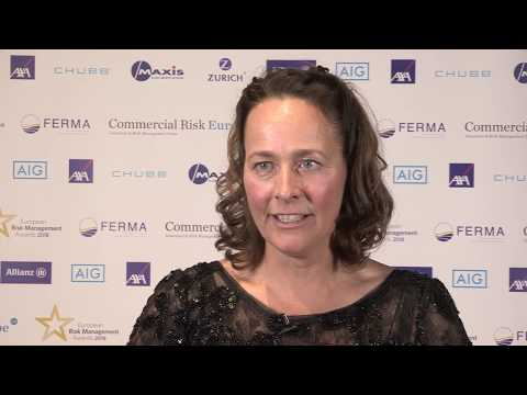 Preview image for our video : A passion for risk management: Annemarie Schouw , Risk and Insurance Manager for Tata Steel Europe wins Lifetime Achievement Award 2018