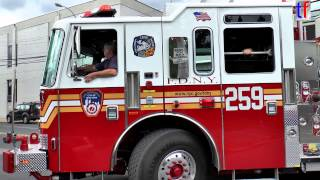 preview picture of video '**BRAND NEW** FDNY Engine 259 Turns Back to Quarters, Queens, NY, USA, 2014.'
