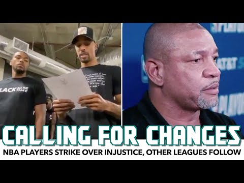 NBA Players Strike Over Injustice, Other Leagues (Except One) Follow