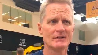 "Steve Kerr on DeMarcus Cousins' knee injury: ""I'm devastated for DeMarcus..."""
