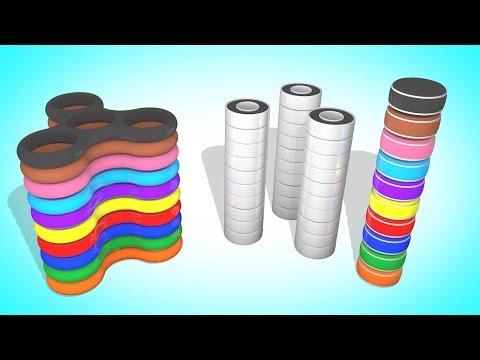 Собираем Цветные Спиннеры   Мультики для детей   Учим Цвета и Цифры   Волшебство ТВ видео
