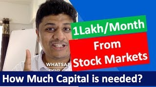 To Profit 1,00,000 Per Month, How Much Capital is needed in Stock Markets?