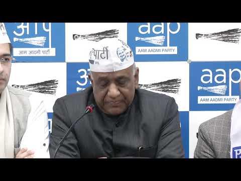 AAP RS MP ND Gupta , South Delhi LS Incharge & MLA ND Sharma Briefs The Media