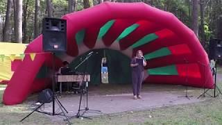 Выступление школы № 121 на день города в парке Челюскинцев