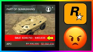 Players Are FURIOUS With Rockstar Games Over The Bonuses & Discounts Of The NEW GTA 5 Online Update!