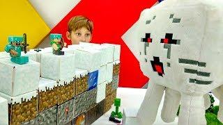Майнкрафт игры для мальчиков. Стив и Алекс против мобов!
