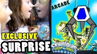 Skylanders Swap Force Arcade Surprise of Exclusive Wash Buckler (The Vacuum Claw Game)