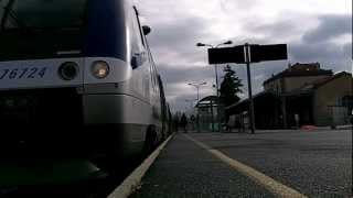 preview picture of video 'BRIOUDE: DEPART TER NIMES / CLERMONT 9 décembre 2012'