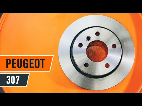 Wie PEUGEOT 307 Bremsscheiben vorne, Bremsbeläge vorne wechseln TUTORIAL | AUTODOC