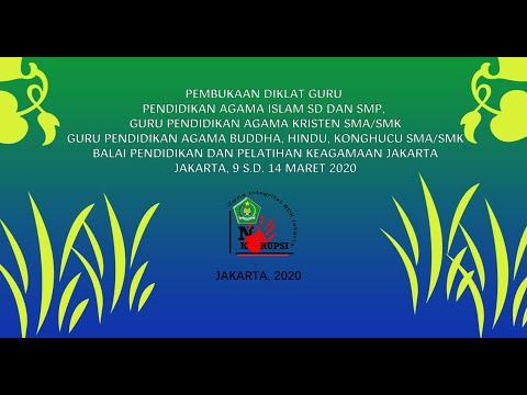 Pembukaan 3 Diklat oleh Kakanwil Kemenag Prov. DKI Jakarta dan Banten
