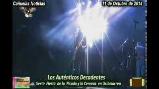 preview picture of video 'Los Auténticos Decadentes en Uribelarrea  Cañuelas 2014'