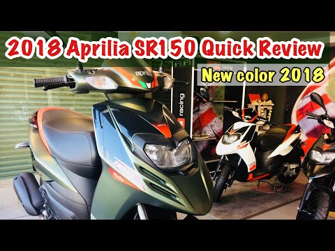 2018 Aprilia sr150 Review | New color -Redgreen