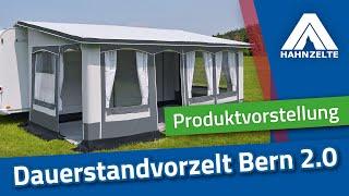 Hahn-Zelte Produktvorstellung freistehendes Dauerstandzelt Bern 2.0