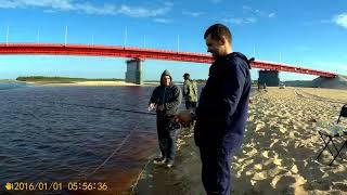 Летняя рыбалка на реке Надым, Я, Женька, Лена