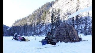 Зимняя рыбалка на хариуса в туве