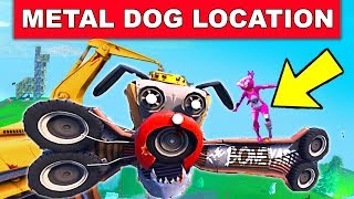 """Dance on top of a GIANT METAL DOG HEAD"" - LOCATION WEEK 9 CHALLENGES FORTNITE SEASON 7"