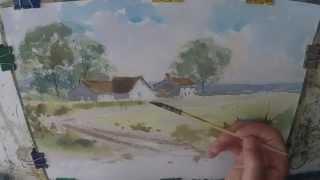 Farmhouse Cottage Watercolour Painting Demo Watercolor Farm