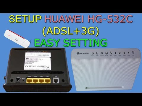 New Firmware Of Huawei hg532c Router and Setup (ADSL+3G) | 3G و adsl
