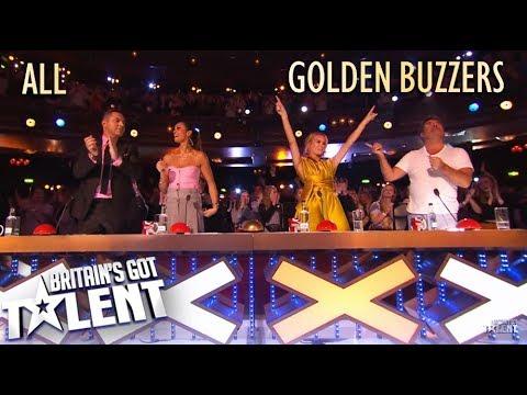 BRITAIN'S GOT TALENT 2019   ALL GOLDEN BUZZERS (видео)