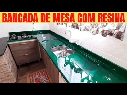 BANCADAS RESINADAS - BANCADA RESINADA DE COZINHA - BANCADA COM RESINA EPXI