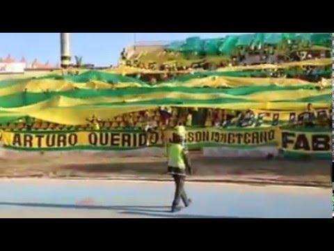 """REBELION AURIVERDE NORTE - 21/11/2015 REAL CARTAGENA"" Barra: Rebelión Auriverde Norte • Club: Real Cartagena"